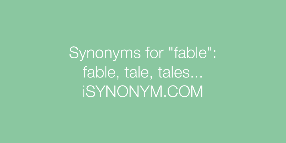 Synonyms fable