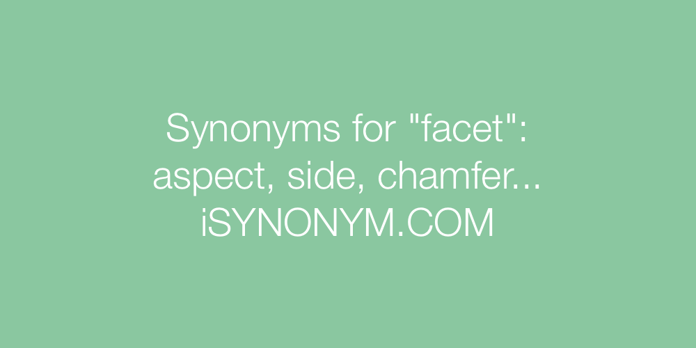 Synonyms facet