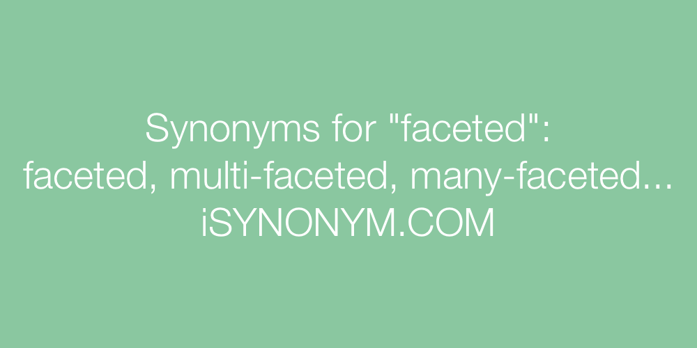 Synonyms faceted