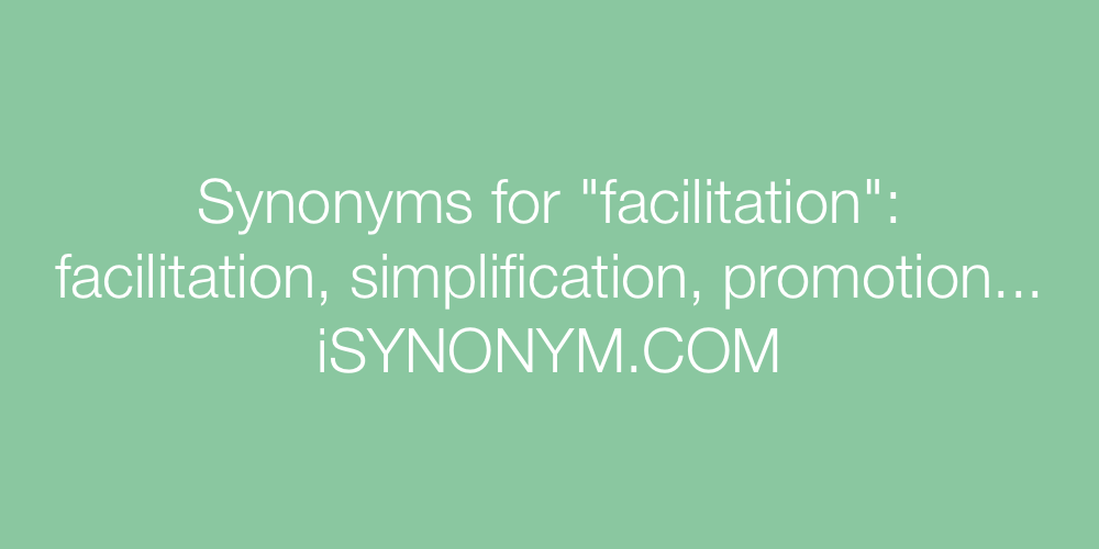 Synonyms facilitation