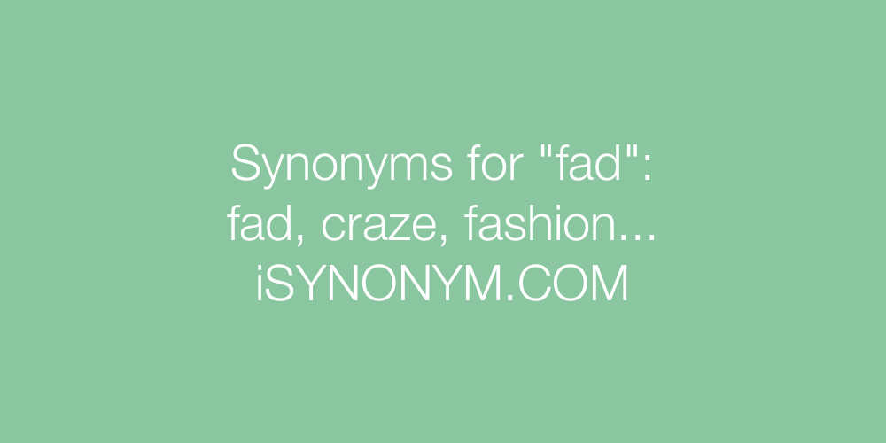 Synonyms fad