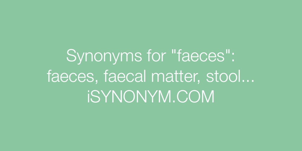 Synonyms faeces