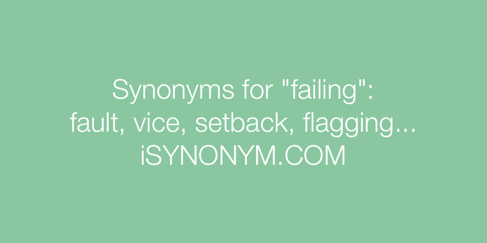 Synonyms failing