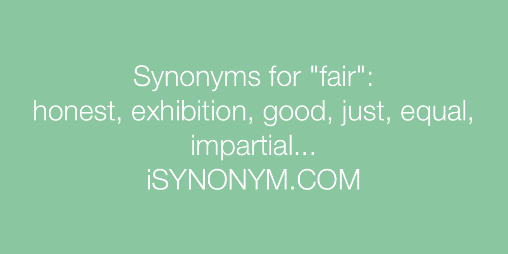 Synonyms fair