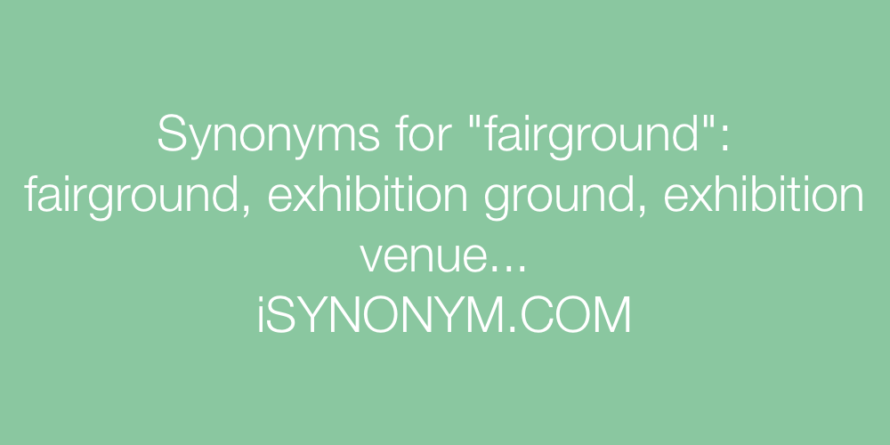 Synonyms fairground