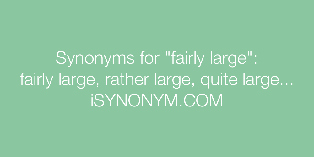 Synonyms fairly large