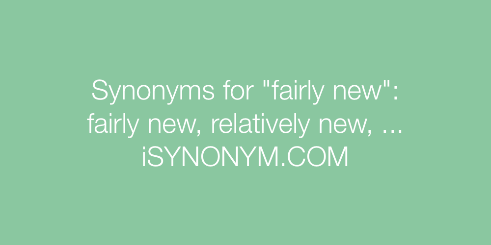 Synonyms fairly new