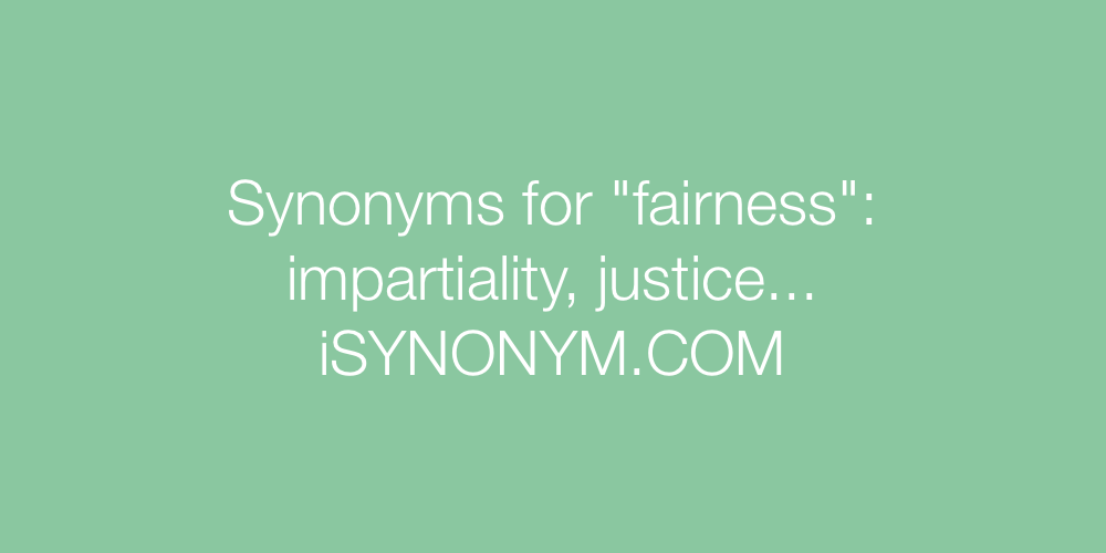 Synonyms fairness