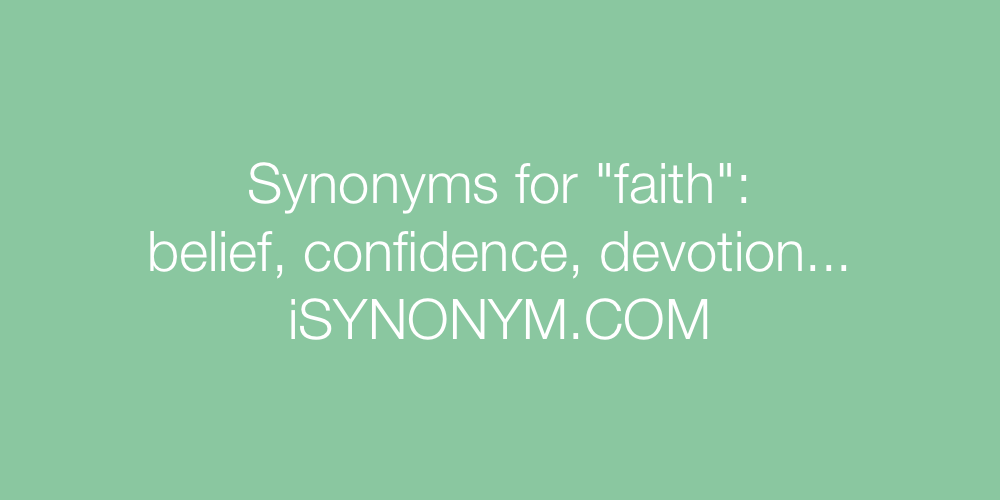 Synonyms faith