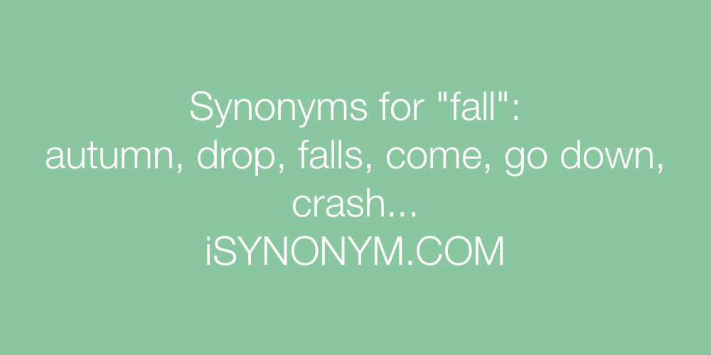 Synonyms fall