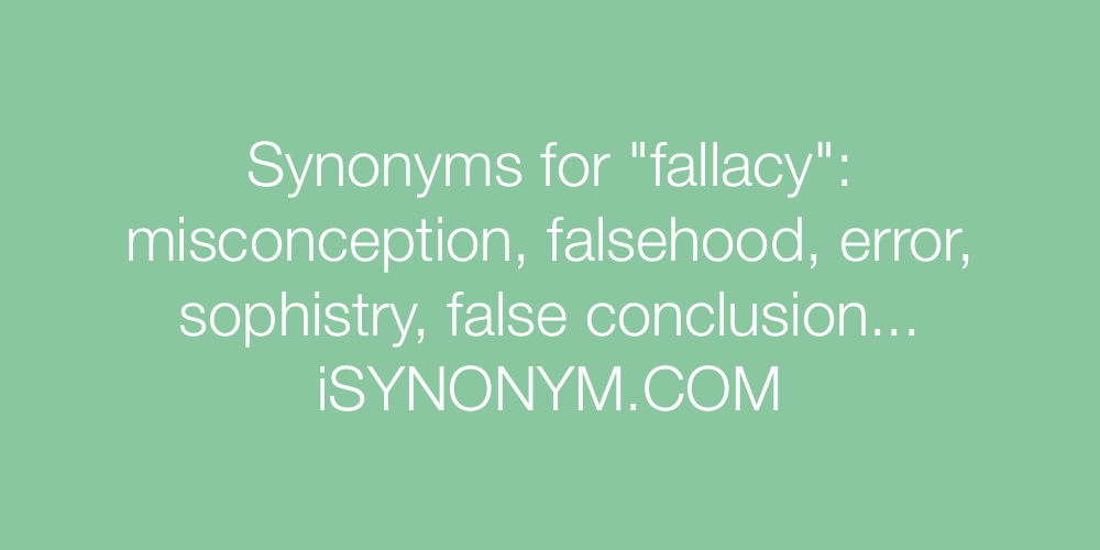 Synonyms fallacy
