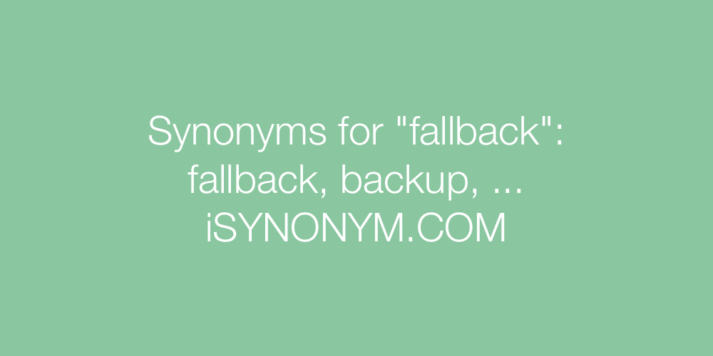 Synonyms fallback