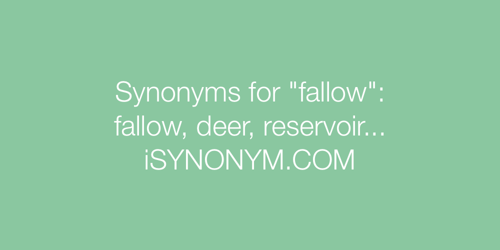 Synonyms fallow
