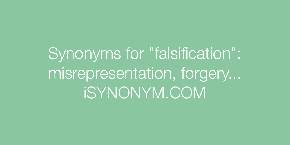 Synonyms falsification