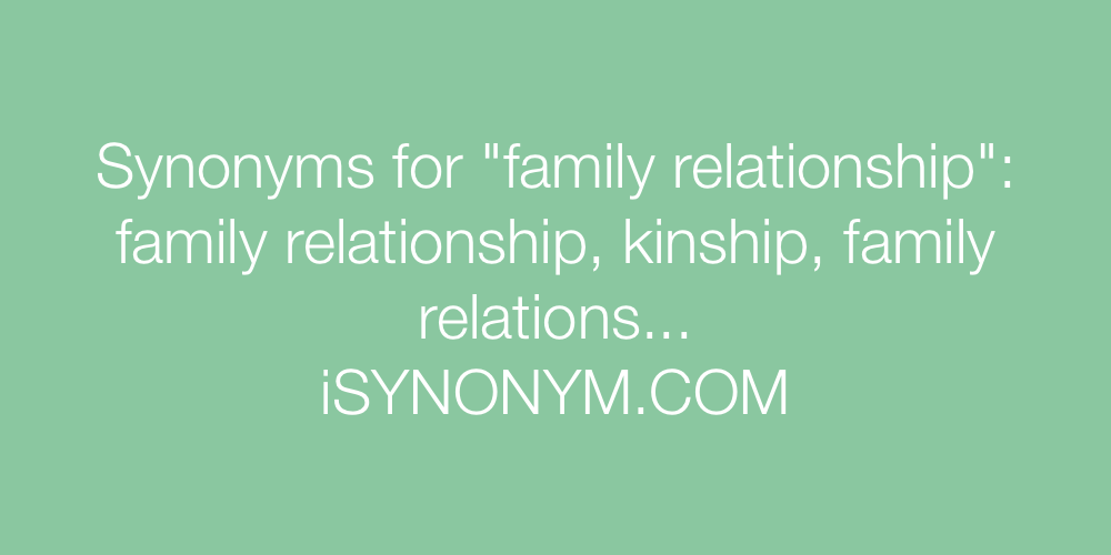 Synonyms family relationship
