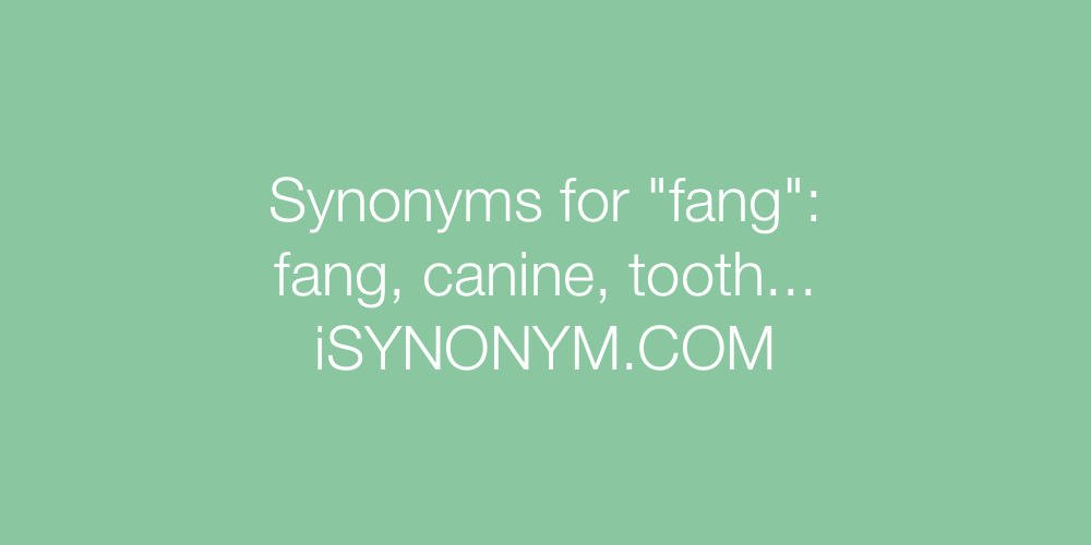 Synonyms fang