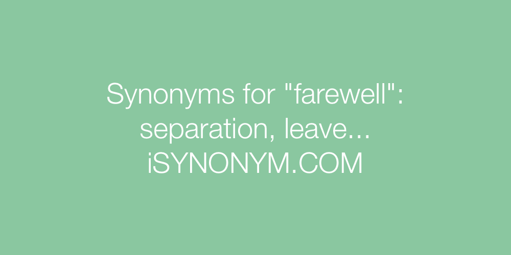 Synonyms farewell