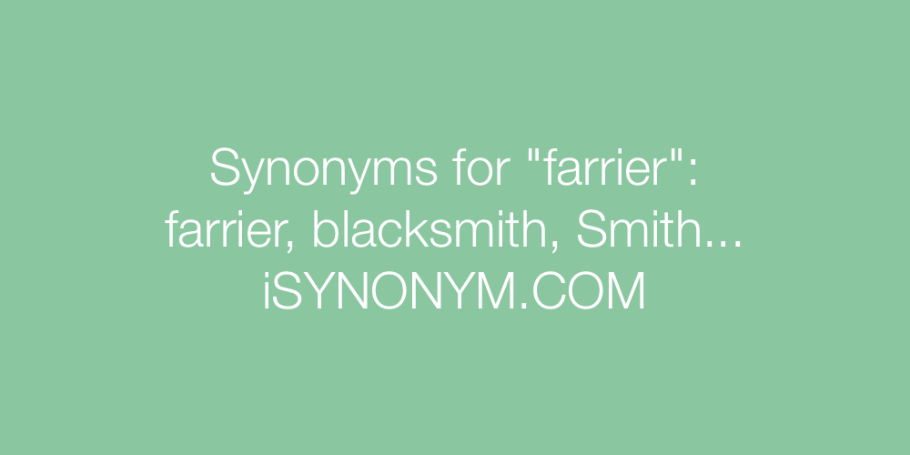 Synonyms farrier