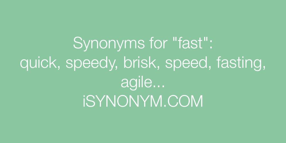 Synonyms fast