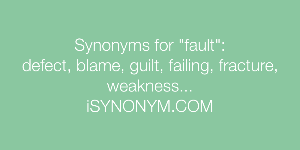 Synonyms fault