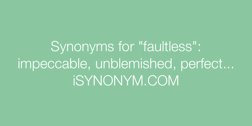 Synonyms faultless