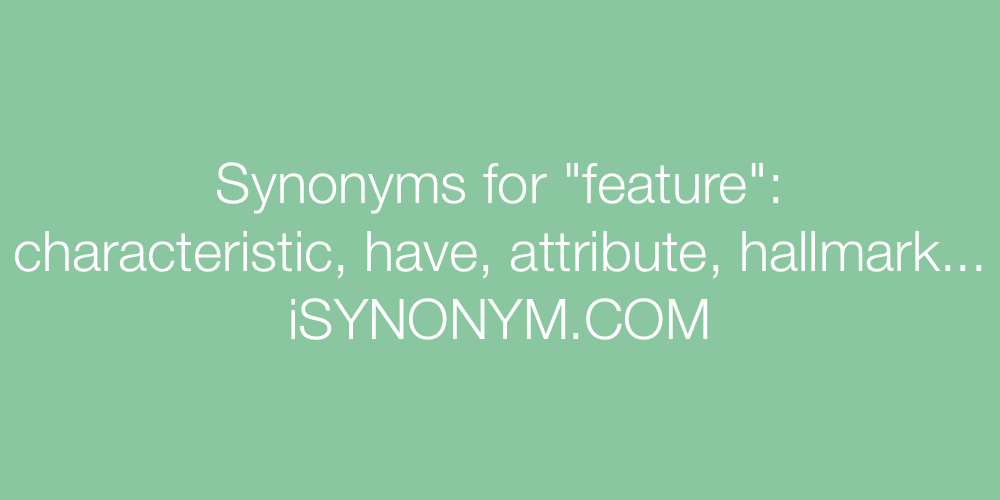 Synonyms feature