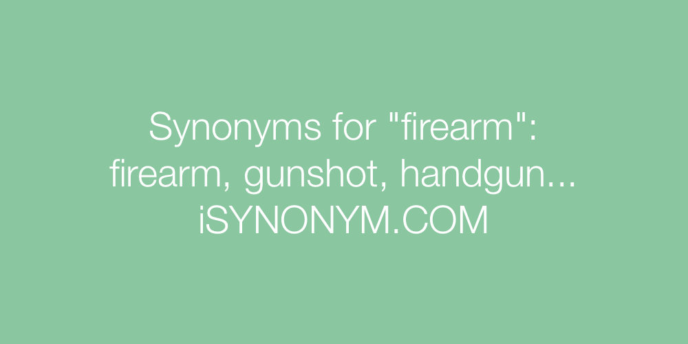 Synonyms firearm