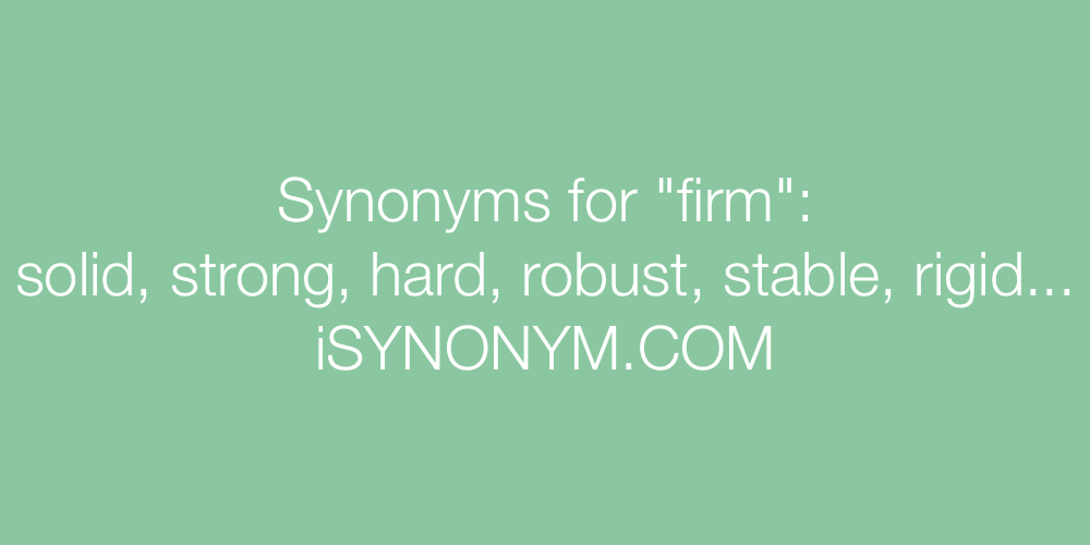 Synonyms firm