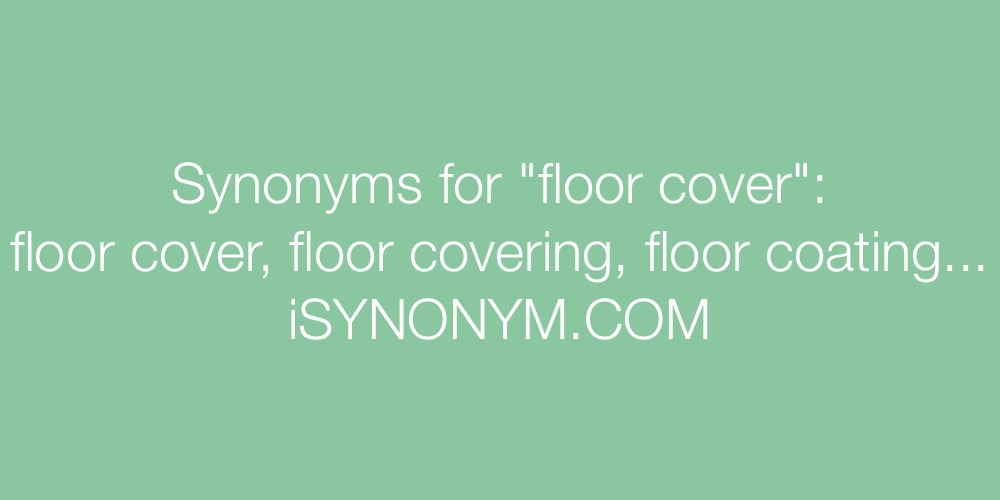 Synonyms floor cover