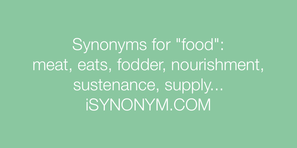 Synonyms food