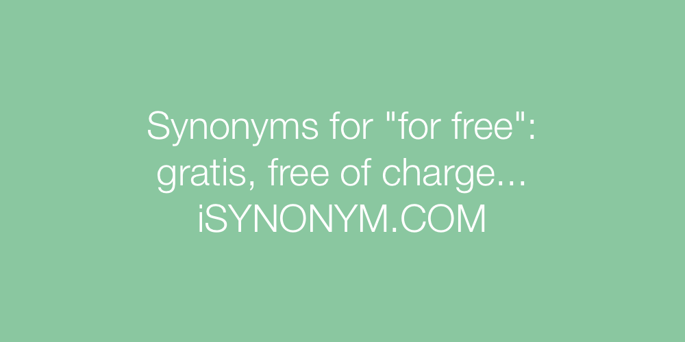 Synonyms for free
