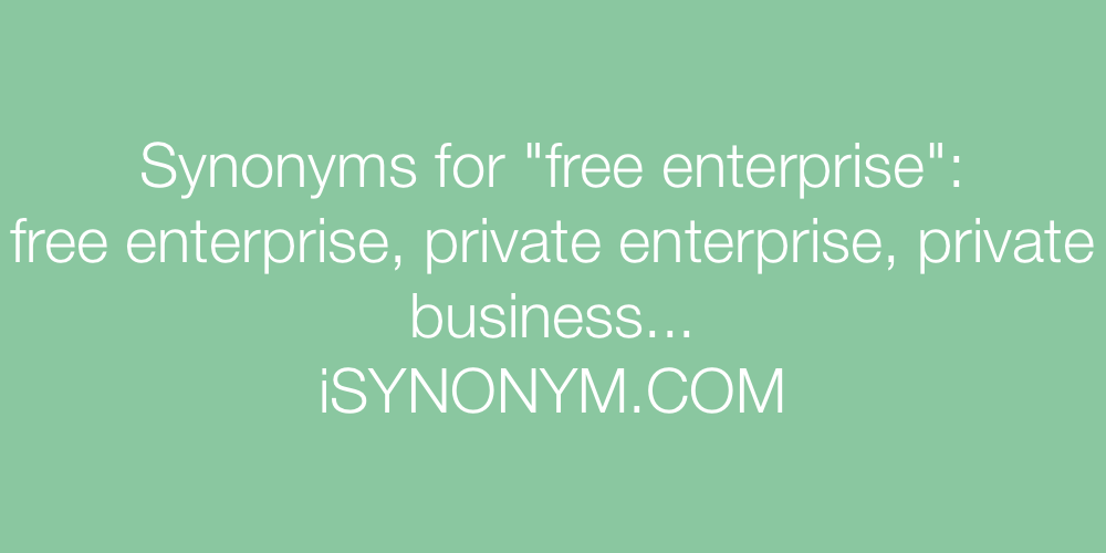 Synonyms free enterprise