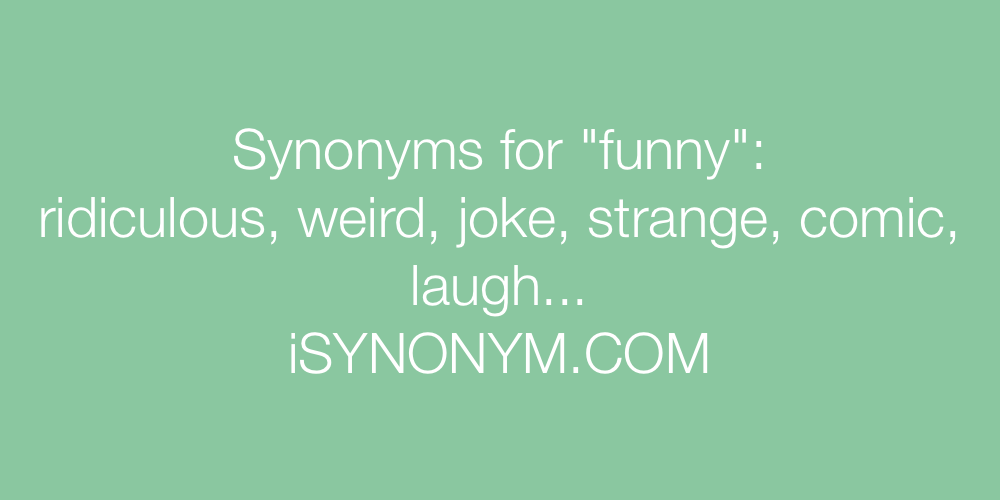 Synonyms Funny In The Picture