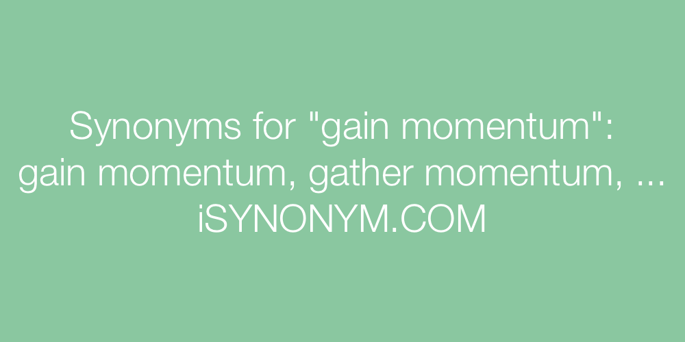 Synonyms gain momentum