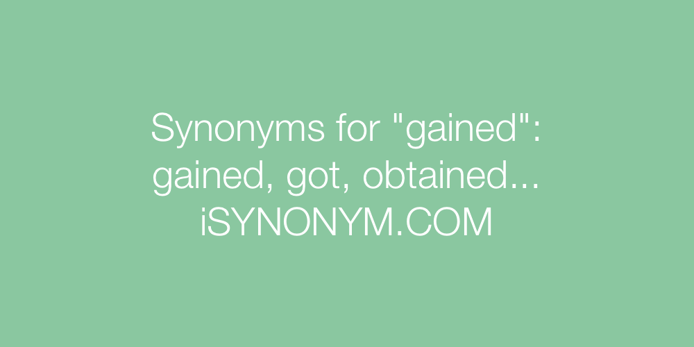 Synonyms gained