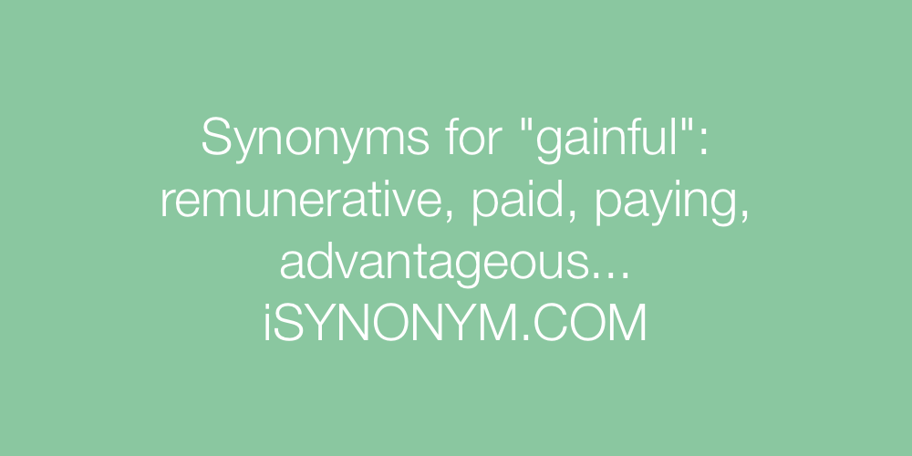 Synonyms gainful