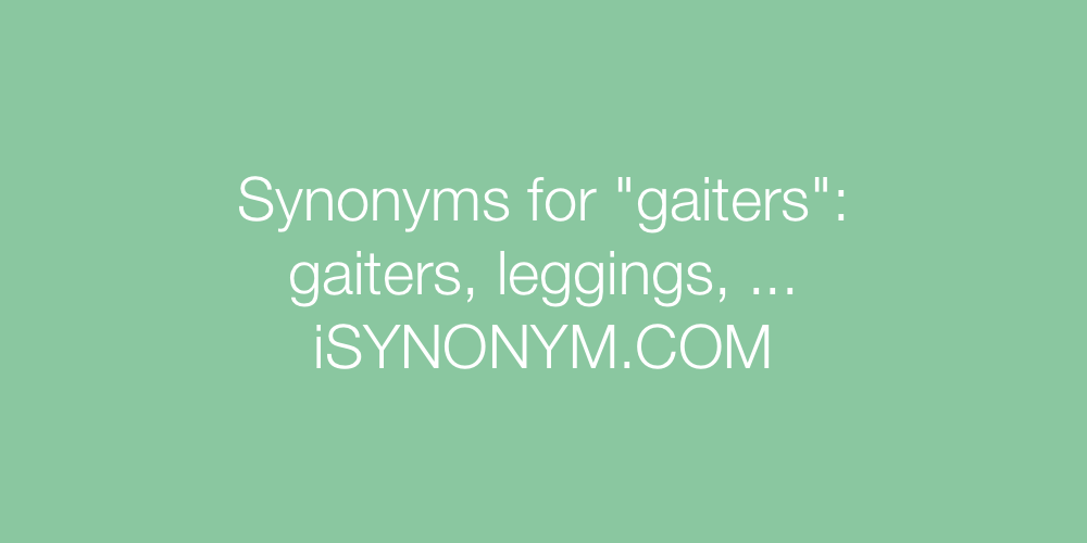 Synonyms gaiters