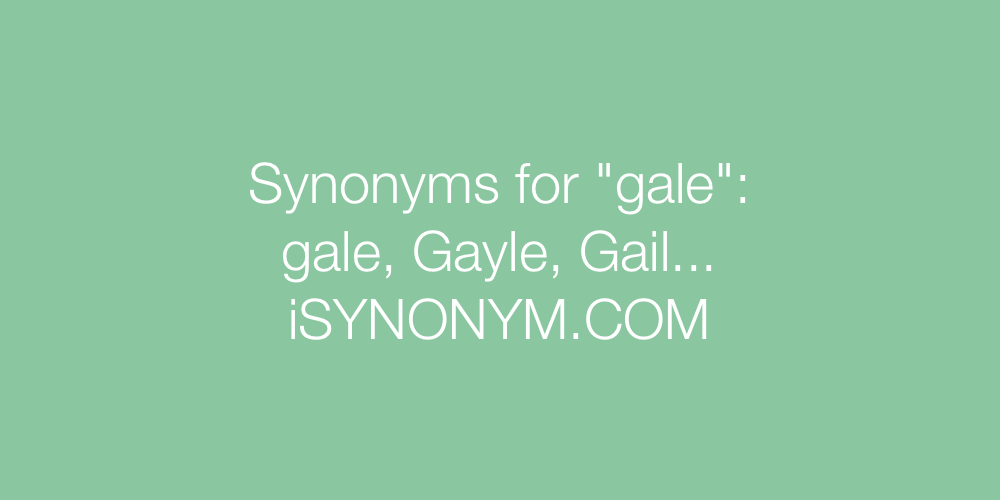 Synonyms gale