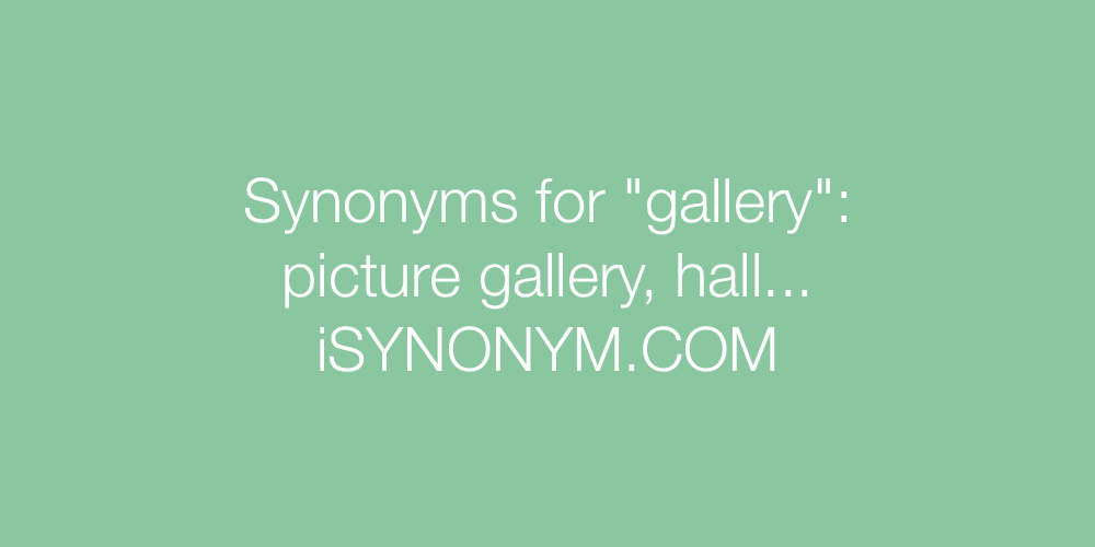 Synonyms gallery