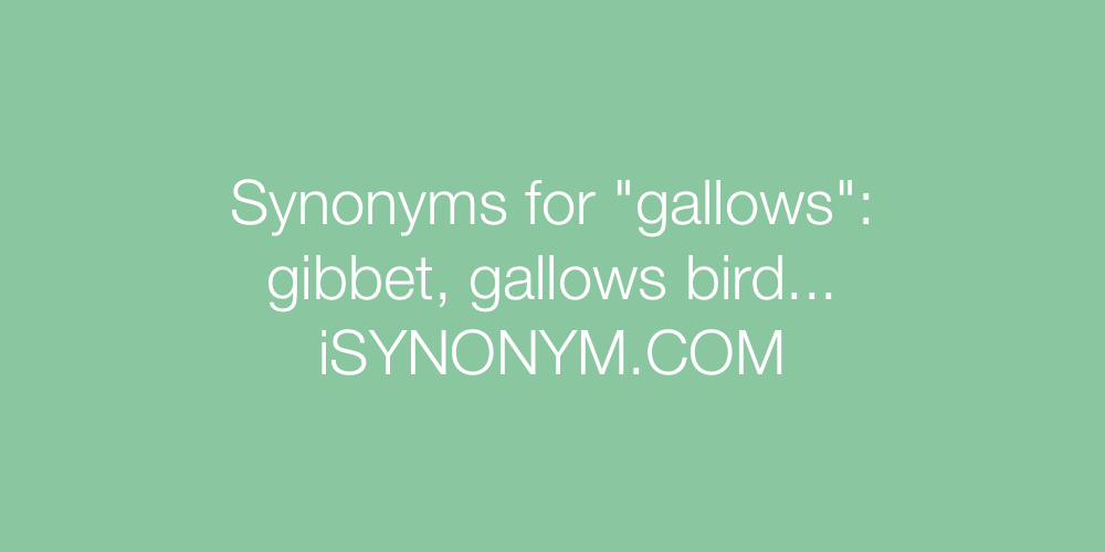 Synonyms gallows