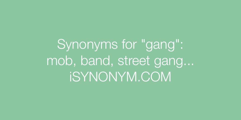 Synonyms gang