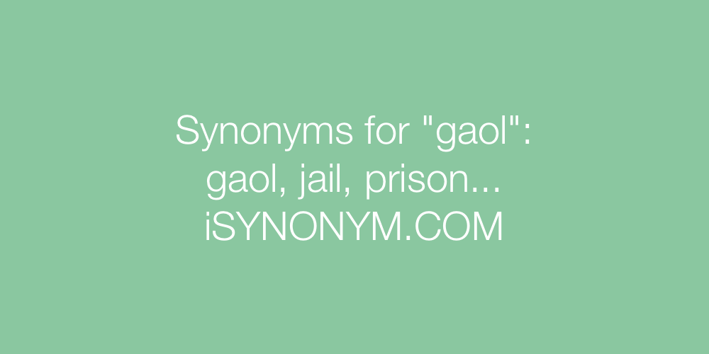 Synonyms gaol