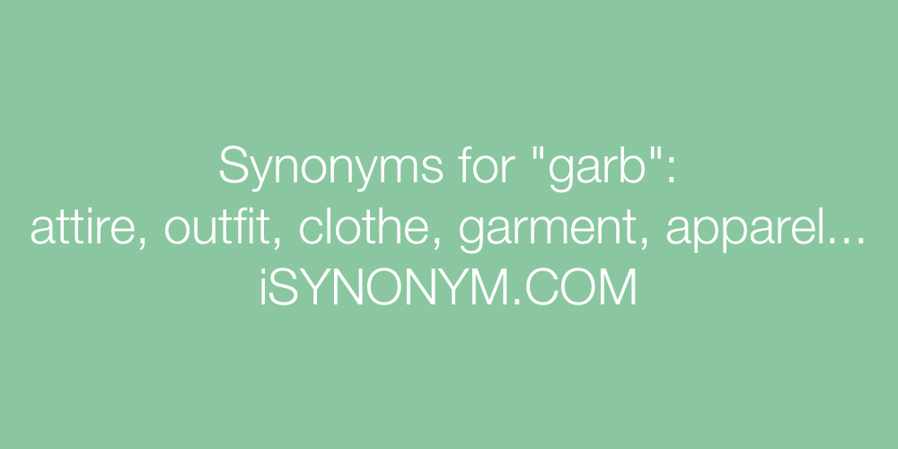 Synonyms garb