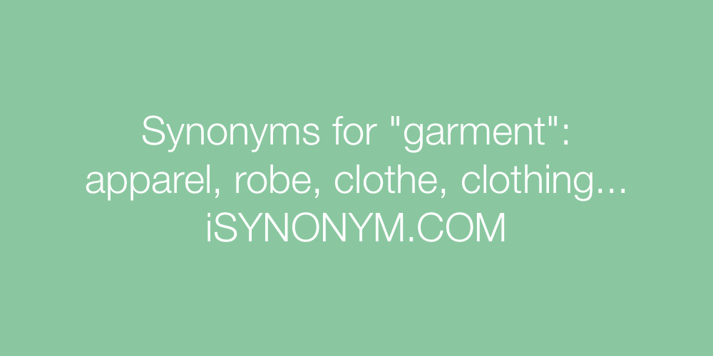 Synonyms garment