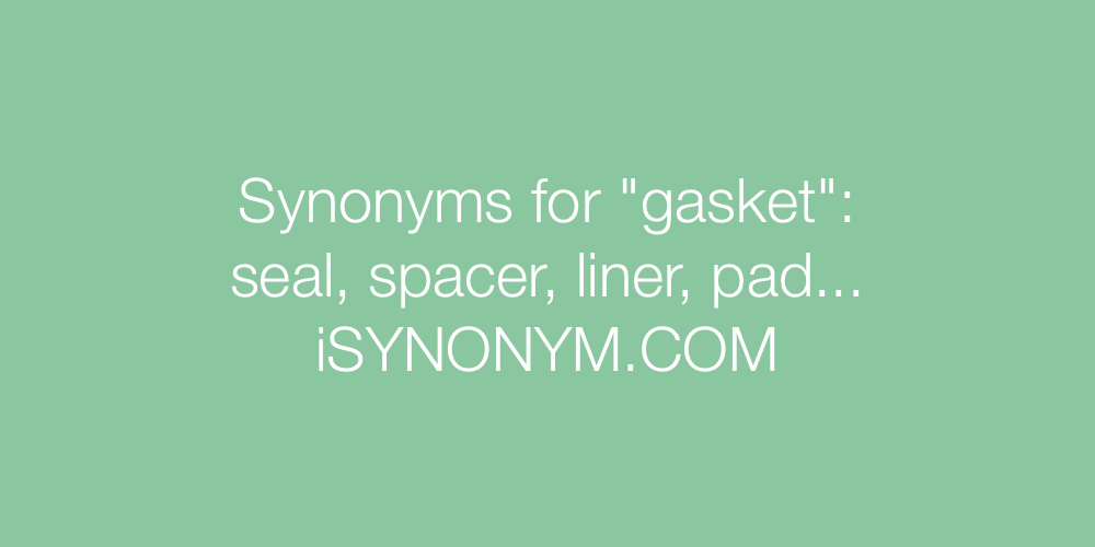 Synonyms gasket