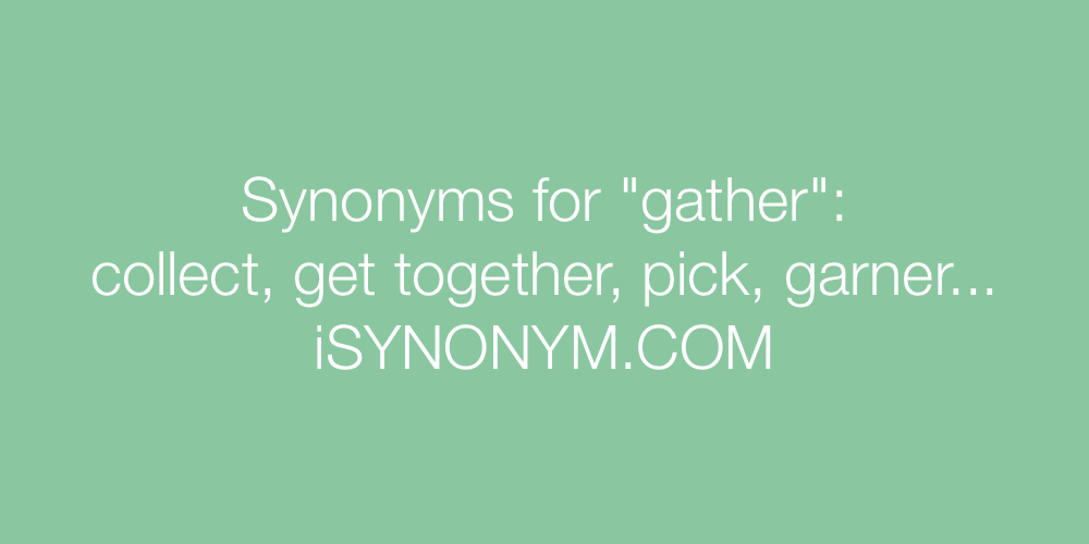 Synonyms gather