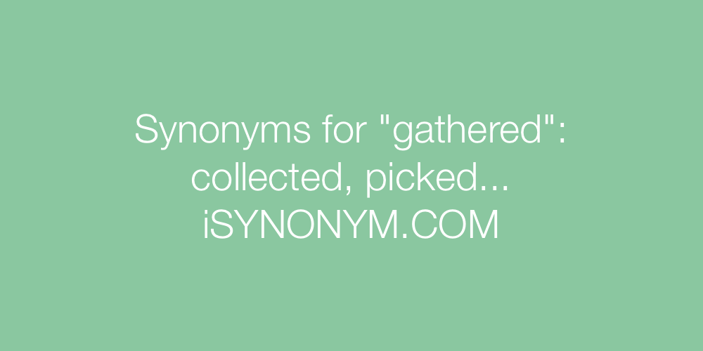 Synonyms gathered