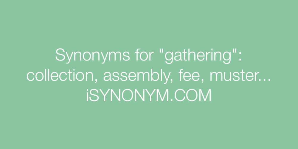Synonyms gathering