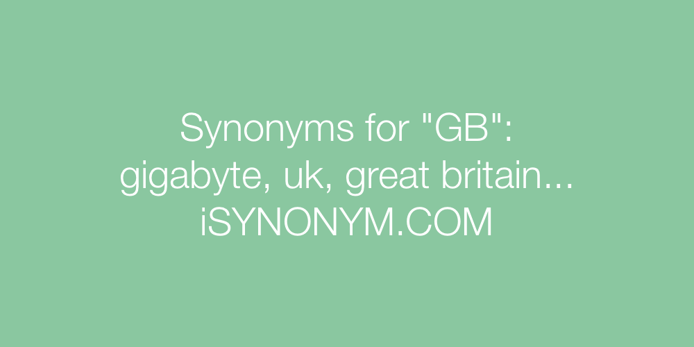 Synonyms GB
