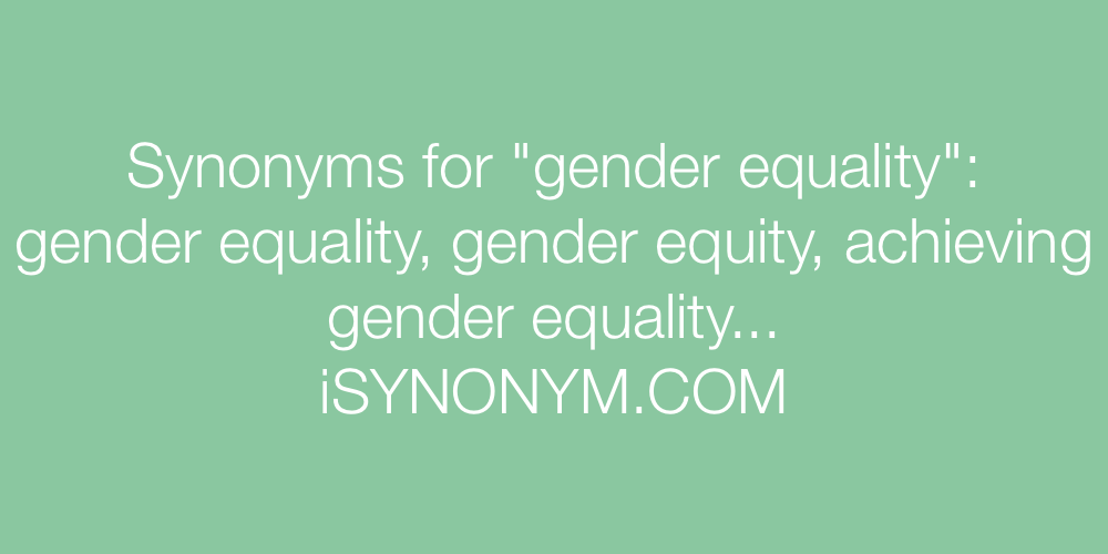 Synonyms gender equality